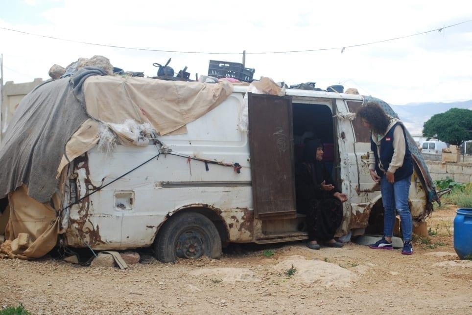 des nouvelles du liban vivre dans un vieux fourgon rouill medair. Black Bedroom Furniture Sets. Home Design Ideas