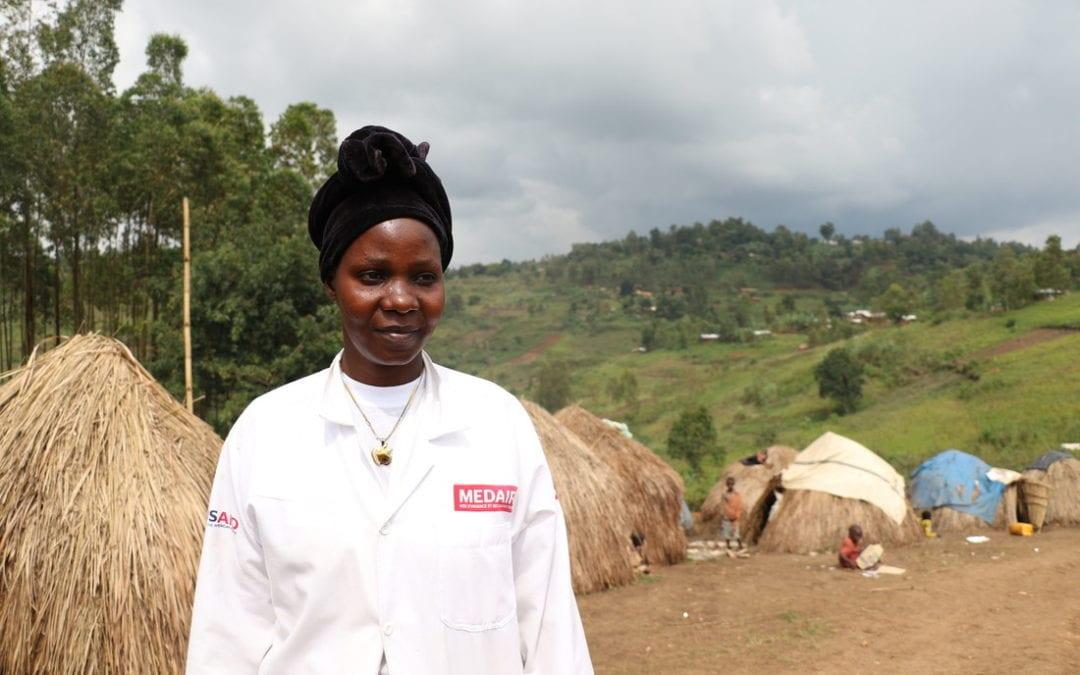 Ontheemde Congolese moeder put troost uit medeleven