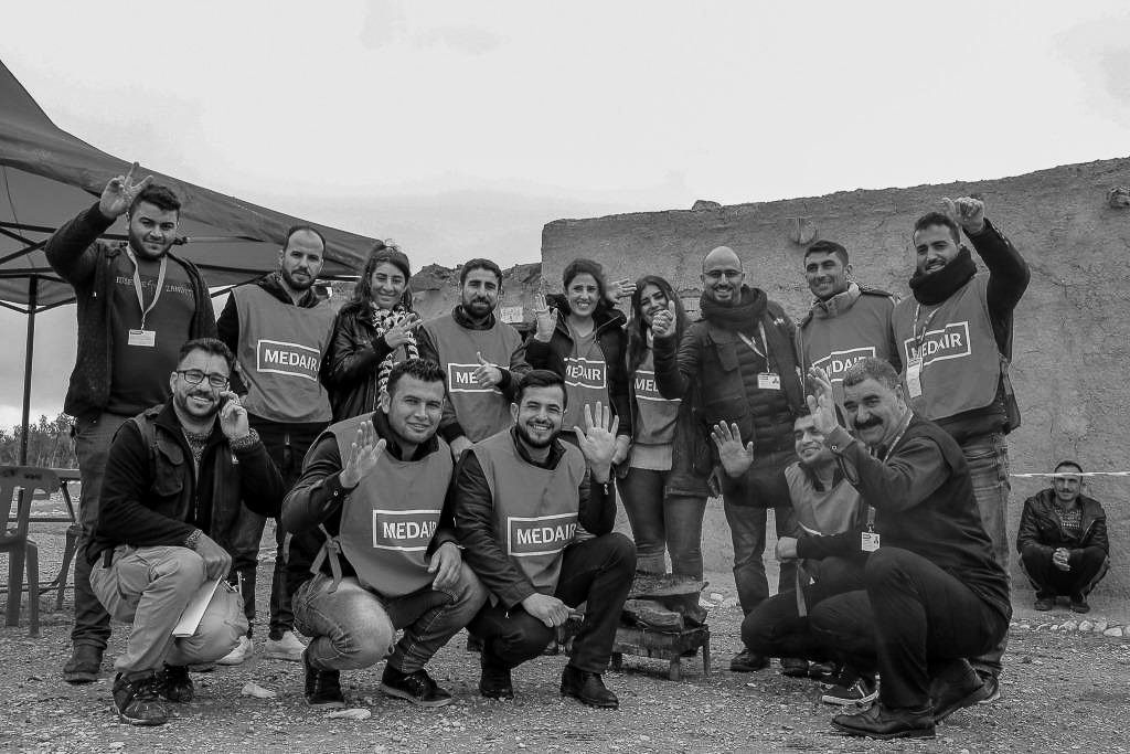 Medair team working in Sinjar