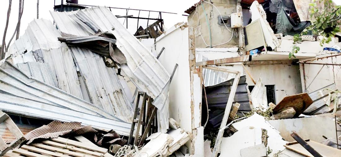 Die Trümmer, die einst ein Haus waren. Karantina, Beirut, 6. August 2020